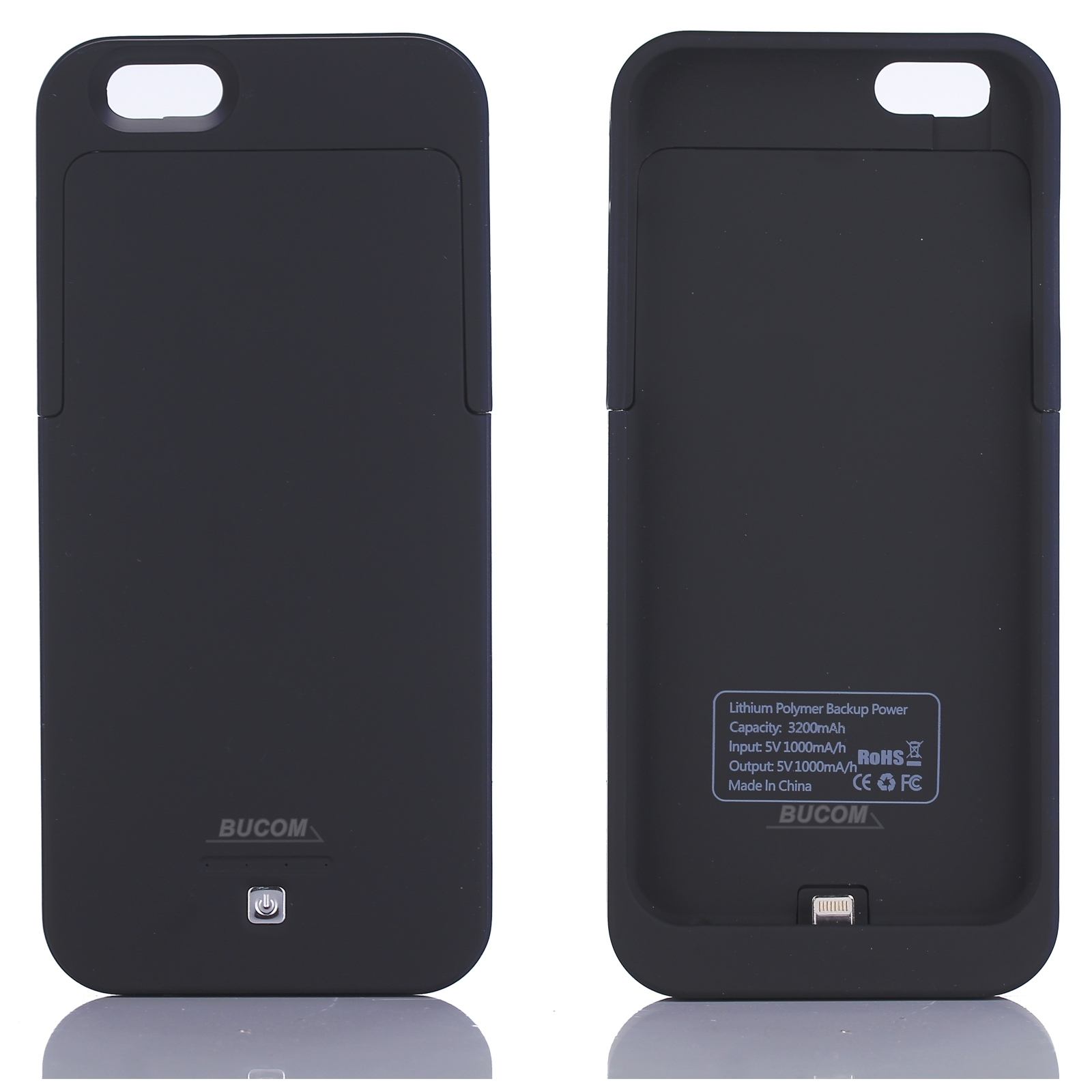 f r iphone 6 lade cover ladeschale notfall power case emergency charger 3200mah ebay. Black Bedroom Furniture Sets. Home Design Ideas