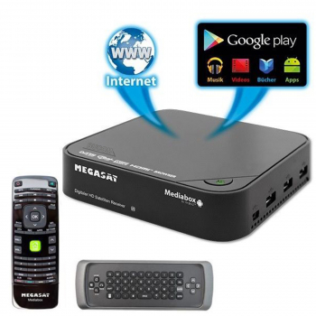 MegaSat Mediabox HD SAT Satelliten Receiver und IP Android 4.0.4 mini PC WiFi WLAN
