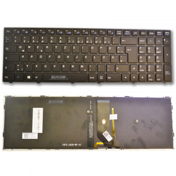 6-80-N7500-070-1 Clevo Tastatur DE deutsch mit Backlight N7500