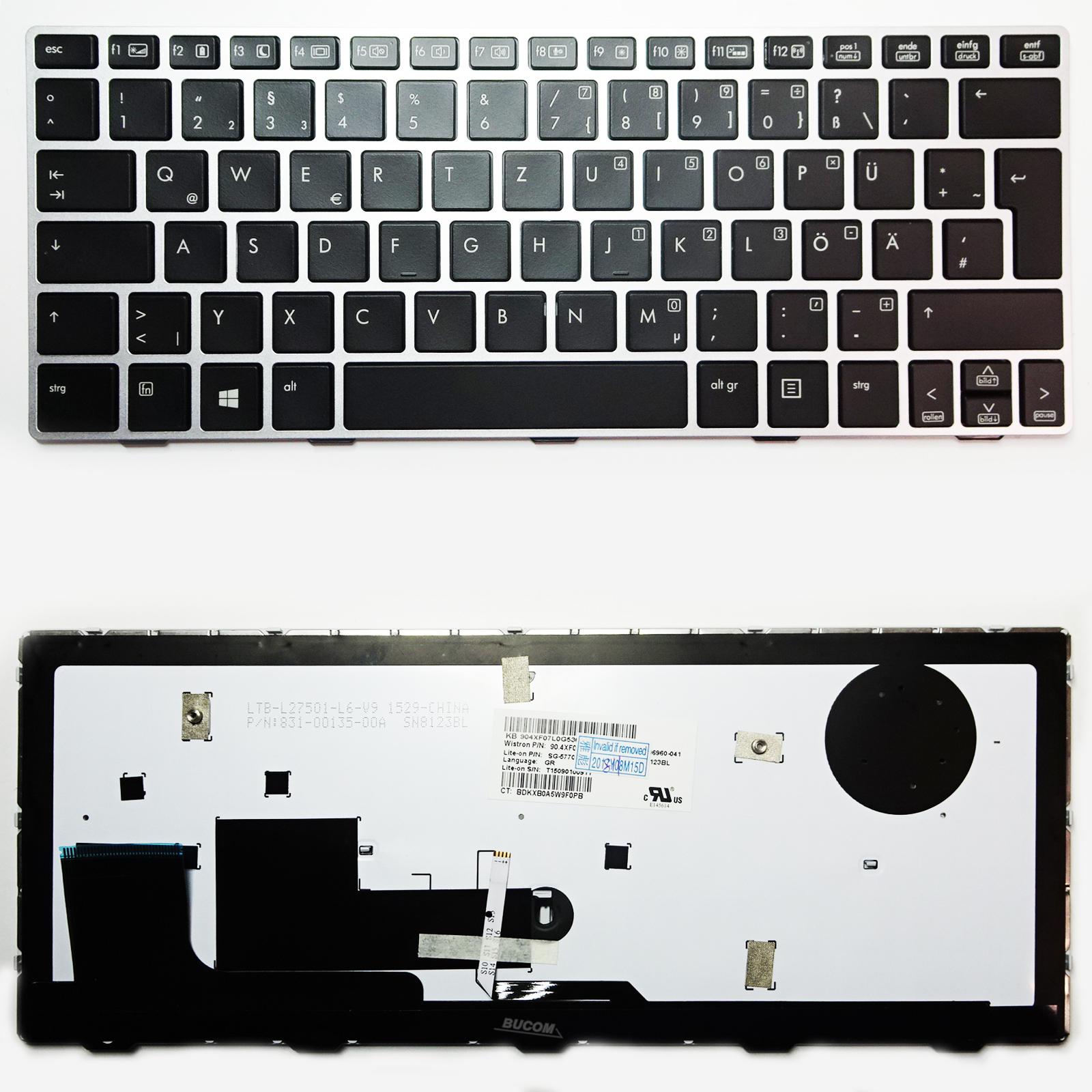 Bucom Tastatur f/ür HP EliteBook Revolve 810 G1 G2 G3 DE QWERTZ Keyboard mit Beleuchtung 11,6 Zoll