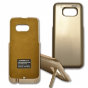 Für Samsung Galaxy S7 Edge Powercase Powerbank Mobile Ladeschale Akku 3600mAh Gold