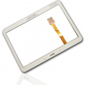 Für Samsung Galaxy Tab 4 10.1 T530 T535 Touchscreen Display Front Glass Digitizer Scheibe + Kleber weiss